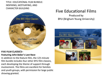 EDUCATIONAL FILM BUNDLE: INSPIRING, MOTIVATING, AND CHARACTER BUILDING