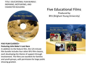 EDUCATIONAL FILM BUNDLE: INSPIRING, MOTIVATING, AND CHARAC