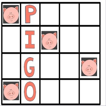 Pig Bingo Game Board Set