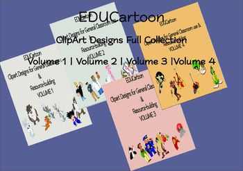 EDUCartoon Clipart Designs Bundle