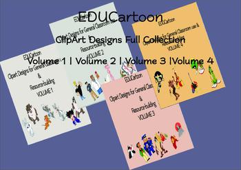 EDUCartoon Clipart Designs Bundle