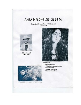 EDVARD MUNCH ART LESSON