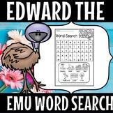 EDWARD THE EMU WORDSEARCH