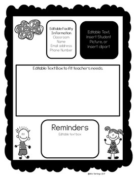 EDiTABLE Student Daily Forms (Black and White)