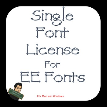 EE Single Font License for Commercial Use