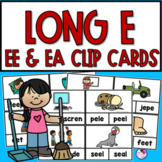 EE and EA Vowels Team Clip Cards
