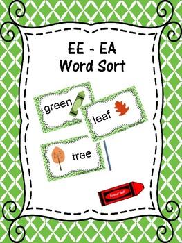 EE and EA Word Sort