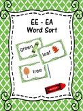 EE and EA Word Sort