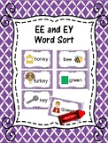 EE and EY Word Sort