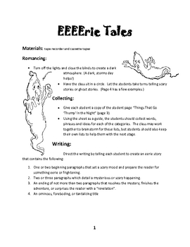 EEEErie Tales Writing Lesson Plan