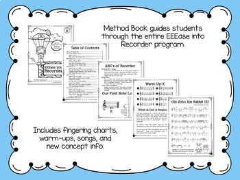 EEEase Into Recorder BUNDLE - Recorder Program Starting on E