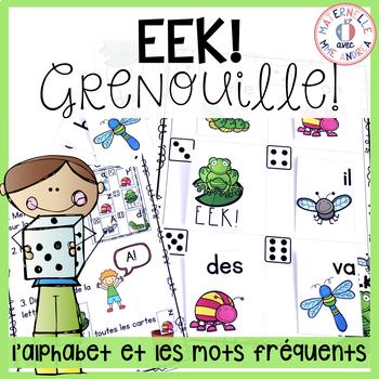 EEK - Grenouille! Un jeu qui travaille les noms des lettres & les mots fréquents