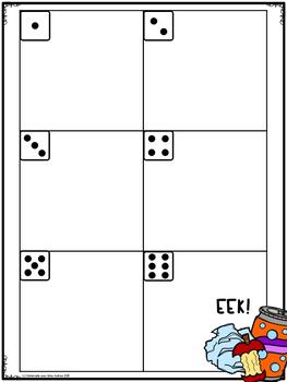 EEK! Jeu de Mathématiques - Déchets! (FRENCH Earth Day Themed Math Game)