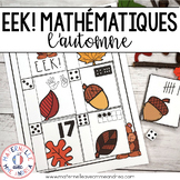 EEK! Jeu de Mathématiques - Écureuil (FRENCH Fall Autumn T
