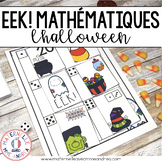 EEK! Jeu de Mathématiques - L'Halloween (FRENCH Halloween Themed Math Game)