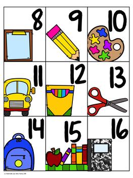 EEK! Jeu de Mathématiques - La rentrée (FRENCH School Themed Math Game)