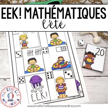 EEK! Jeu de Mathématiques - Méduse (FRENCH Summer Themed Math Game)
