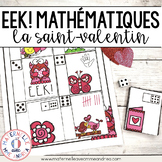 EEK! Jeu de Mathématiques - Monstre (FRENCH Valentine's Day Themed Math Game)