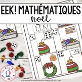EEK! Jeu de Mathématiques - Noël (FRENCH Christmas Themed