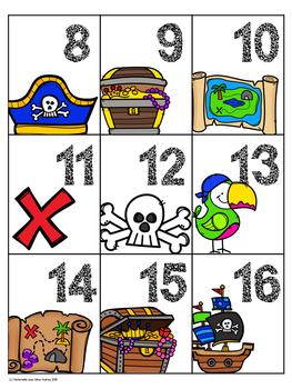 EEK! Jeu de Mathématiques - Pirates (FRENCH Pirate Themed Math Game)