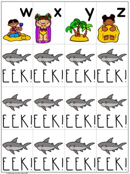 EEK! Requin! FRENCH FREEBIE - A free game to practice letter names & sounds