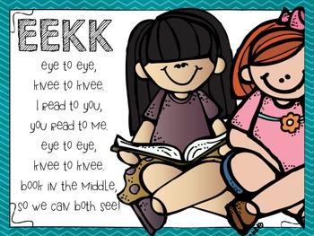 EEKK Daily 5 reminder poster {freebie}