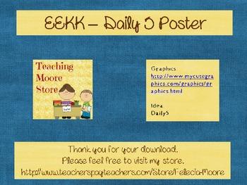 EEKK Poster boy and girl reading