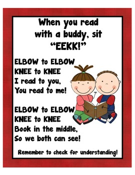 EEKK reading buddy poster