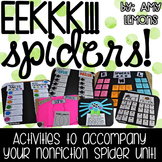EEKKK!!!  Spiders!  Activities for a Nonfiction Unit!
