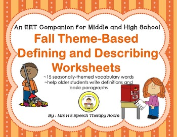 EET Fall Themed Companion for Middle and High School