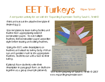 EET Turkey Thanksgiving Craftivity
