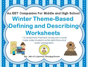 EET Winter Themed Companion for Middle and High School