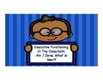 EF in the Classroom: What's Done, What's Next