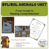 EFL Animal names  - vocabulary and comprehension