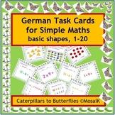 German 1-20, 54 task cards - basic numeracy, maths