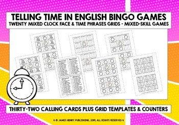 TELLING TIME BINGO #1