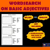 EFL/ESL WORDSEARCH on BASIC ADJECTIVES to describe someone
