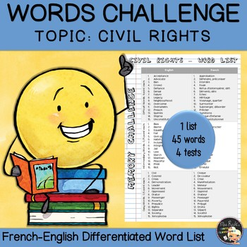 Vocabulary Word List - Civil Rights Movement