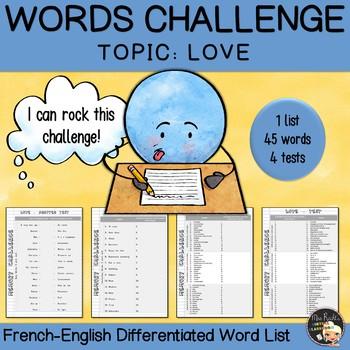 Vocabulary Word List Love