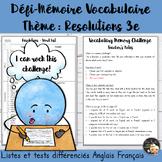 EFL Memory-Challenge - Resolutions