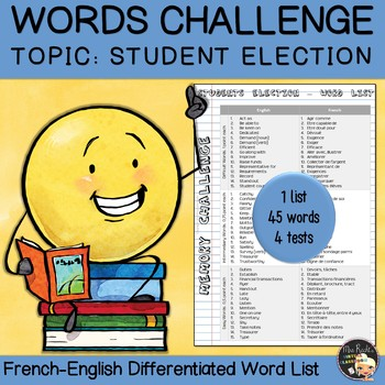 Vocabulary Word List Students Election