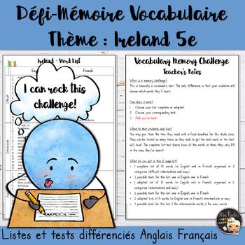 Vocabulary Word List Ireland