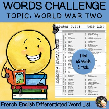 Vocabulary Word List World War Two