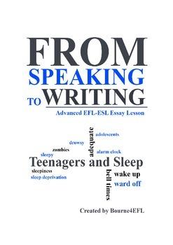 Eflesl Essay Lesson Teens And Sleep By Bourneefl  Tpt Eflesl Essay Lesson Teens And Sleep