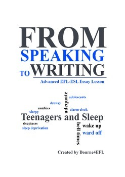 EFL/ESL Essay Lesson: Teens and Sleep