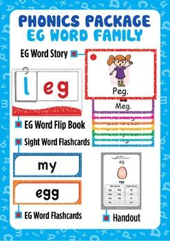 'EG WORD FAMILY' Phonics Lesson Package