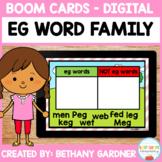 EG Word Family - Short E Decodable Reader - Boom Cards - I