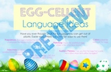 EGG-Cellent Easter Egg LANGUAGE Ideas Activity Handout