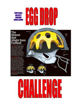 EGG DROP FOOTBALL HELMET DESIGN CHALLENGE  -  PHYSICS
