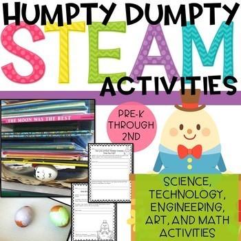 EGG-cellent Humpty Dumpty Nursery Rhyme STEAM activities